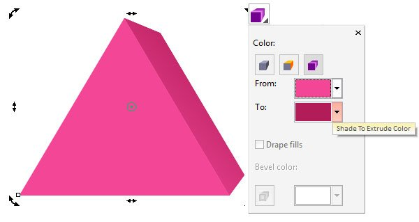 Apply a simple gradient to your extruded object