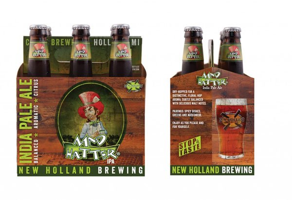 New Holland Brewings Mad Hatter Ale Packaging designed by Anna Lisa Schneider