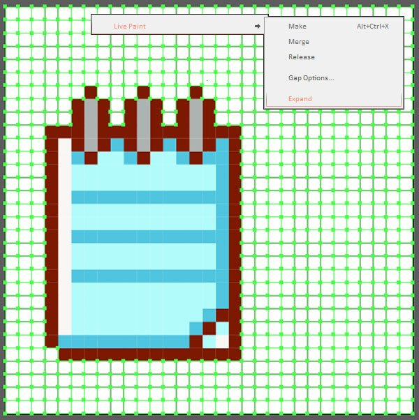 Extract your pixel art icons from the line grid