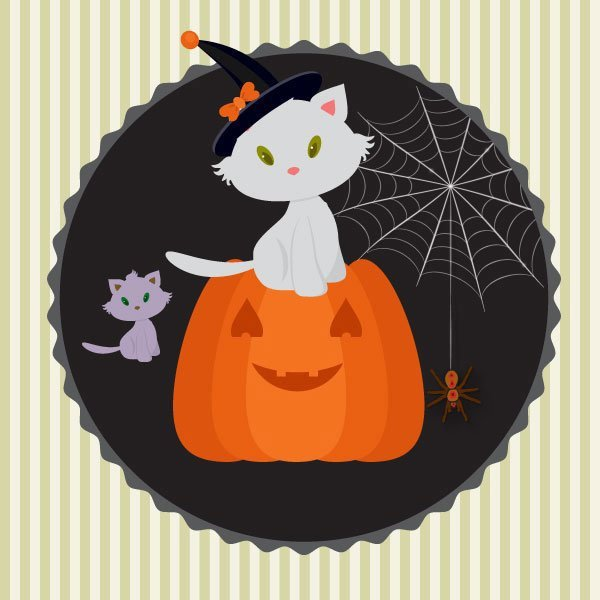 Butus white cat for halloween