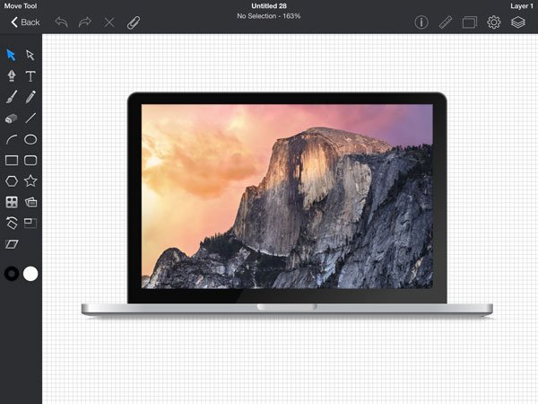 Ilez Seth drew this macbook on his ipad