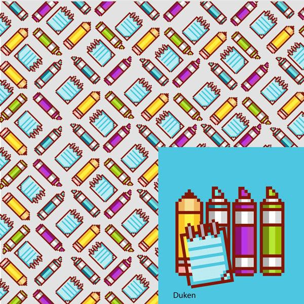 dukens pixel art wallpaper piece