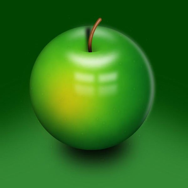 LaMin shared their beautifully digitally painted apple piece