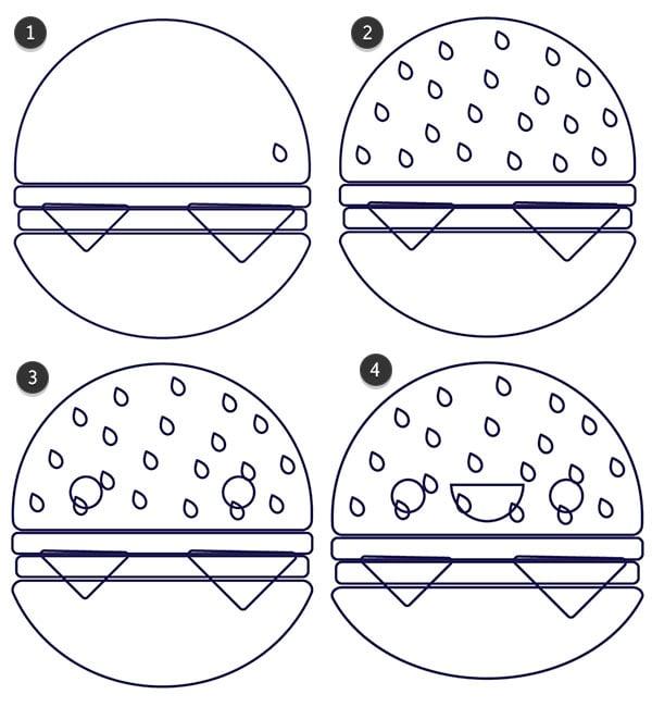Draw details on your hamburger