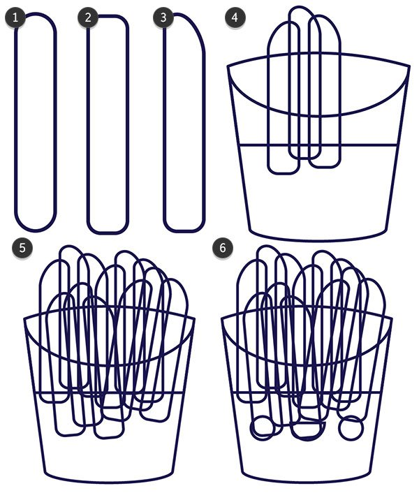 Draw some fries to fill your design