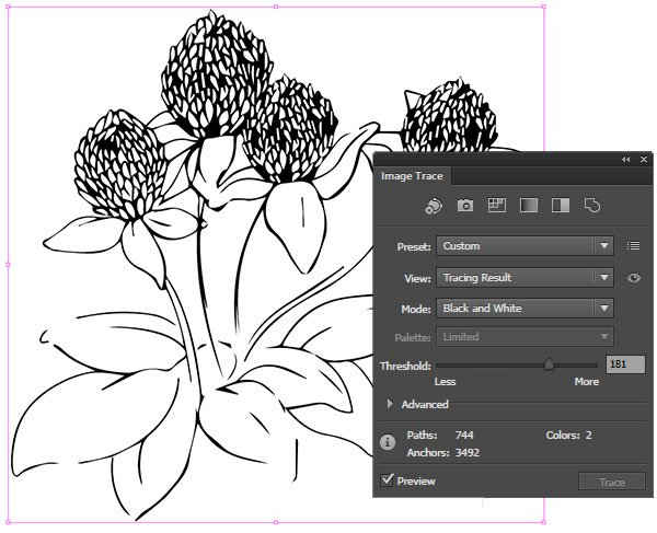 Image Trace your line art