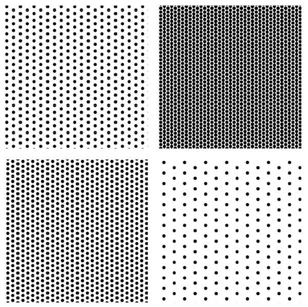 variations in halftone patterns