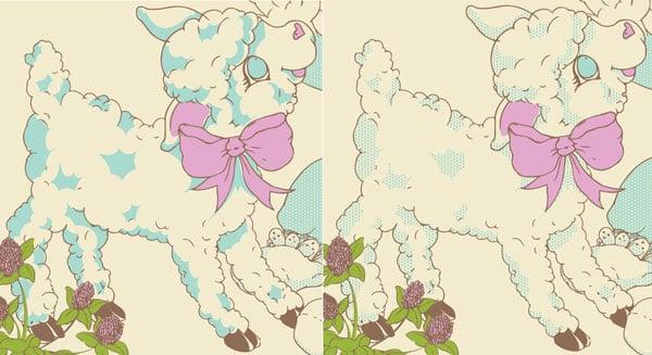 make the lamb fluffy like a cloud