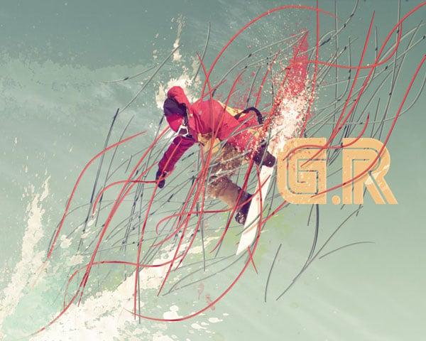 Gilads high flying snowboarder