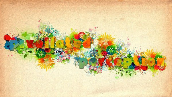 Amits watercolor style text art