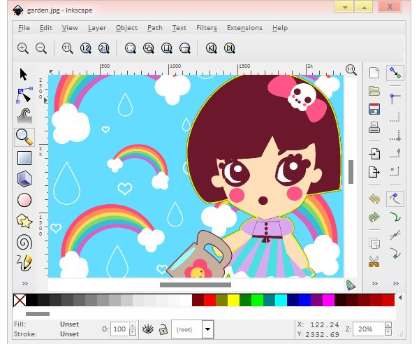 Inkscape user interface