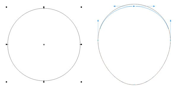 Create a simple apple shape