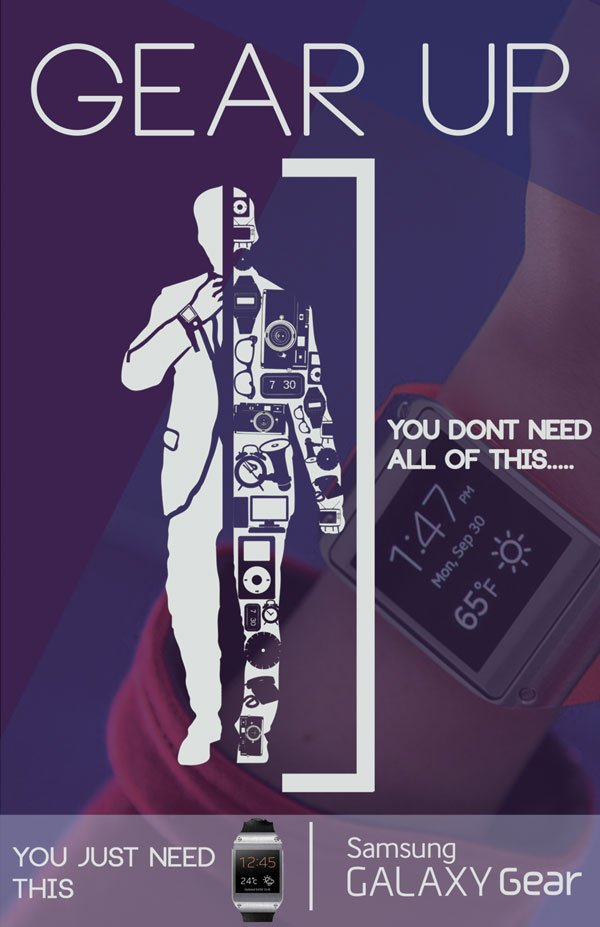 Galaxy Gear Campaign with Art Direction by Benjamin Howard