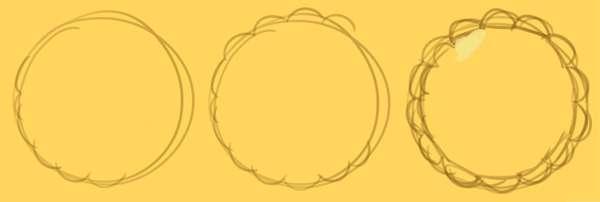 Draw your basic tart shape
