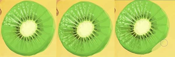 Give your kiwi some highlight shapes