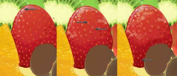 Rendering the strawberrys seeds