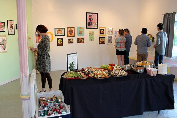 The opening of Buffet at Glitter Milk Gallery in June 2015