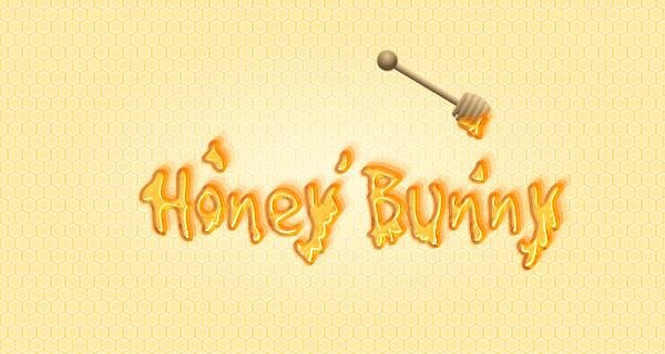 User Mi commented with her personalized version of a honey text effect tutorial by Andrei Marius