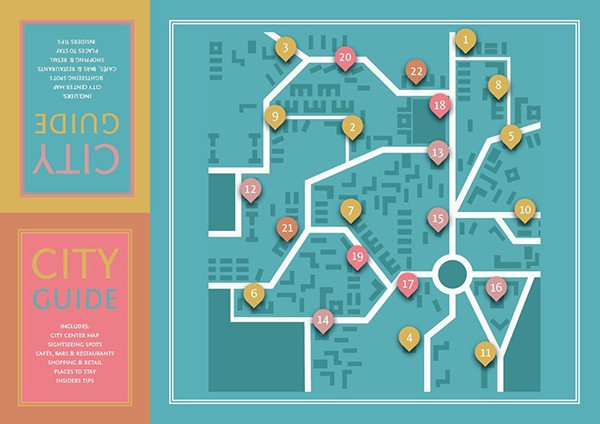 Michael Gearon commented with his fantastically designed fold-out city guide on a tutorial by Grace Fussell Part One
