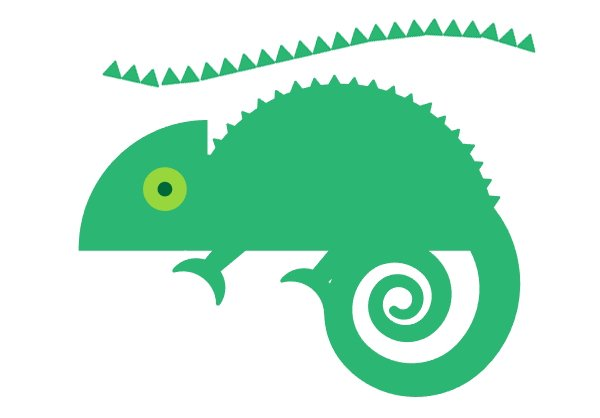 Use the brush to create spikes on the chameleons back