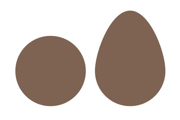 Draw a teardrop for the avocado base design
