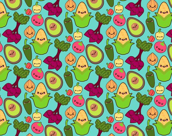 The final vegetable pattern design