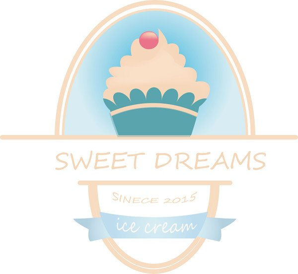 Polina Chugunova shared her fantastic rendition of an ice cream shop logo design from a tutorial by Mary Winkler