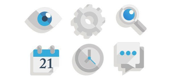 Krpenko Y shared their version of some nearly flat icons from a tutorial by Chris Carey
