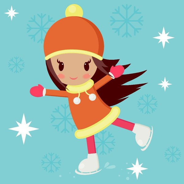 User paulamoserdrew took a skating girl tutorial for a spin with help from creator Nataliya Dolotko