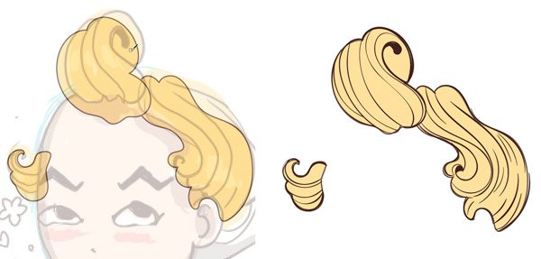draw details of the hair
