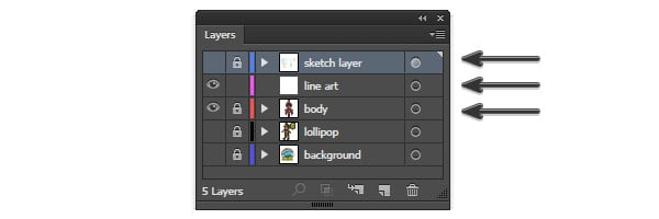 Layers panel layer order