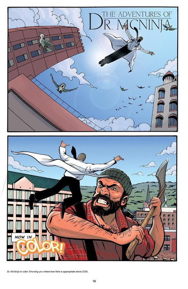 A page from The Adventures of Dr McNinja by Christopher Hastings published by Dark Horse Comics