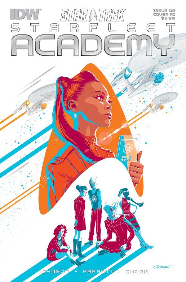 Star Trek Starfleet Academy Cover by George Caltsoudas for IDW Publishing