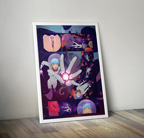 Scuba Space Comic by Leigh Jeffery