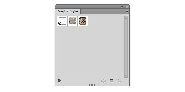 Open the graphic styles panel and check out the downloaded styles
