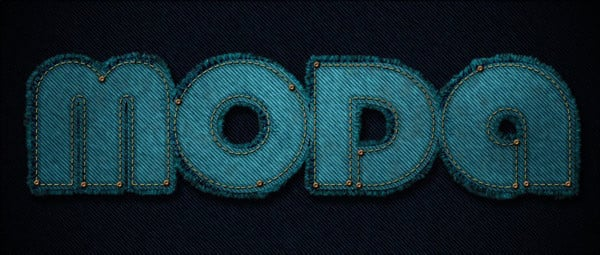 Adriano Carvalho commented with their fashion-forward take on a denim text effect tutorial by Rose