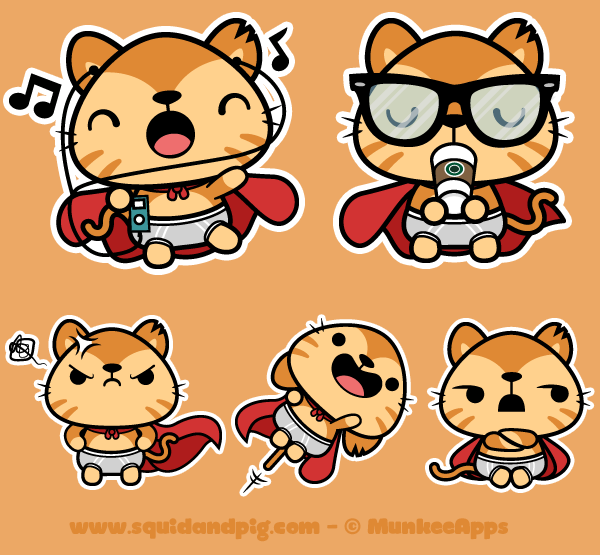 Supergato Stickers for MunkeeApps