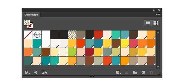 An example of a retro-inspired palette