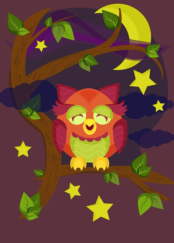 User Aliaksandra commented with their beautiful rendition of an owl illustration thanks to a tutorial by Jude Christoper Roxas