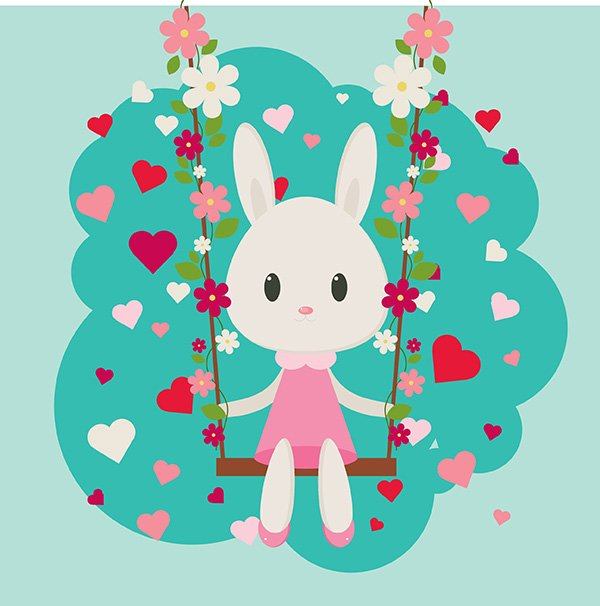 User Starkoff shared their own version of a sweet Valentines Day bunny thanks to a super cute tutorial by Nataliya Dolotko