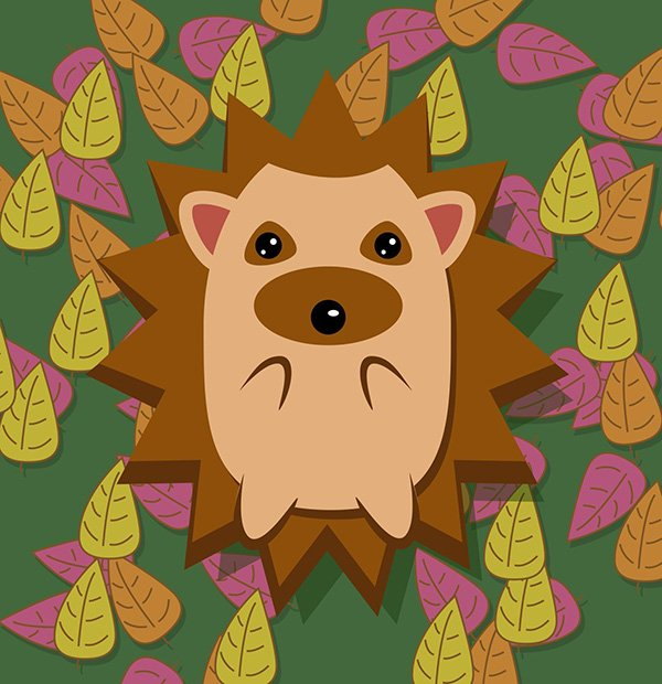 Anwar Ali commented with his own version of a cute hedgehog from an Inkscape tutorial by Aaron Nieze