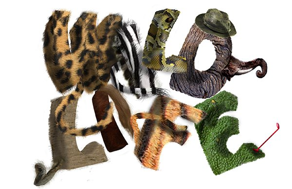 User Ears Burning shared their own wild version of animal typography thanks to a tutorial by Edmar Cisneros