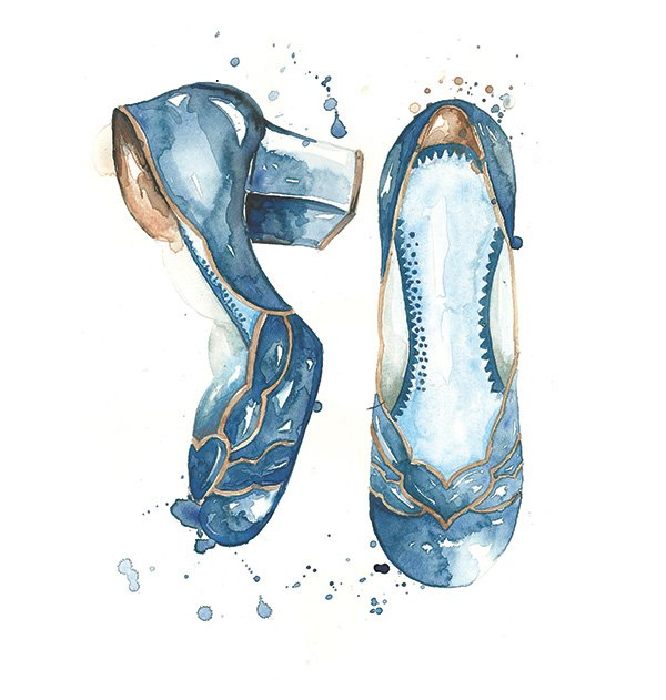 Watercolor Shoes by Camila Gray