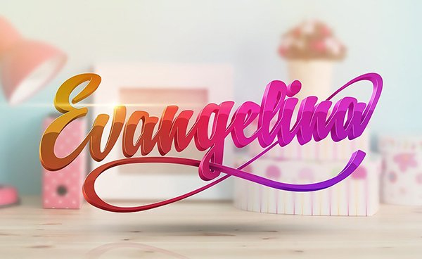 Alexander Wright shared his gorgeous result from a 3D type tutorial by  Matthew Harpin