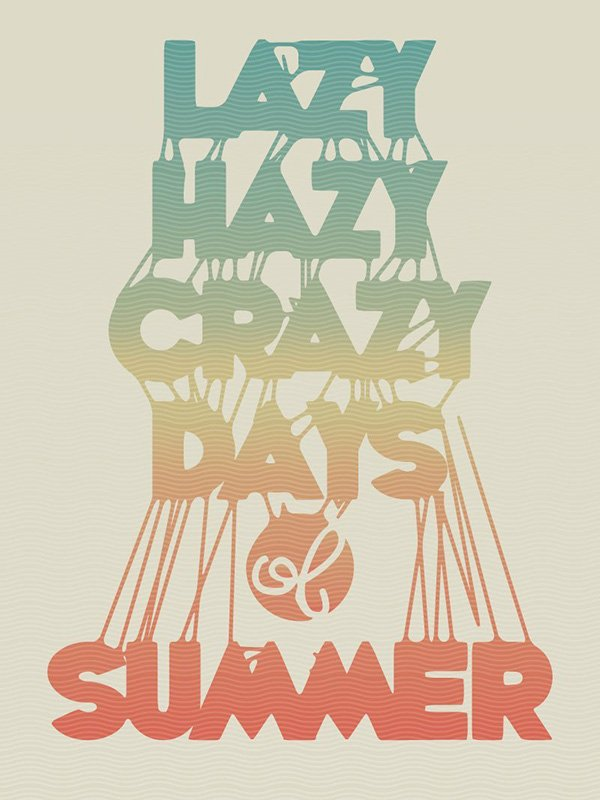 Narcisa Didoaca commented with her own take on a sticky summery typographic tutorial by Chris Carey
