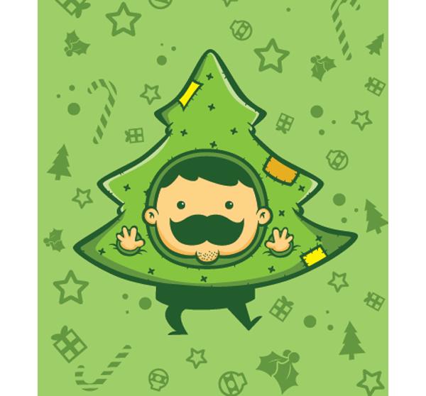 Mr Mustache - Christmas Edition