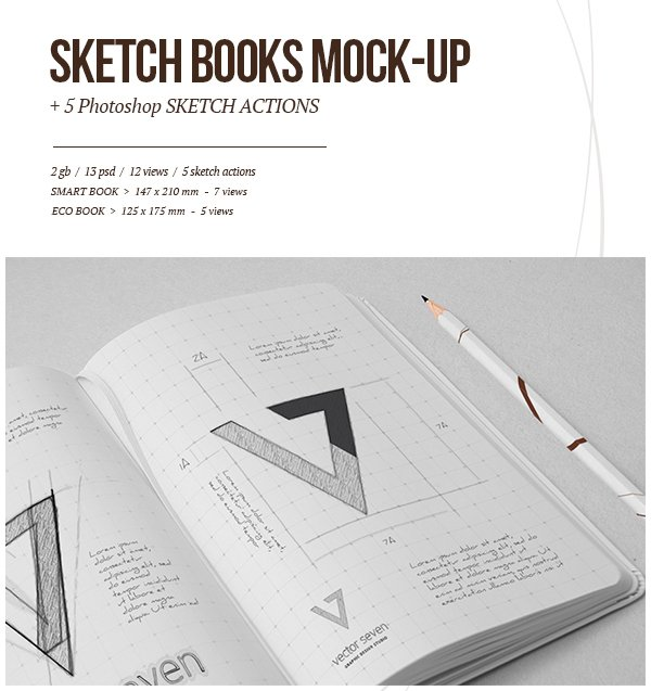 Sketchbook Mock-up  Sketch Actions