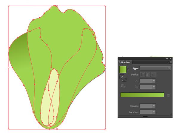 Start rendering the romaine lettuce head