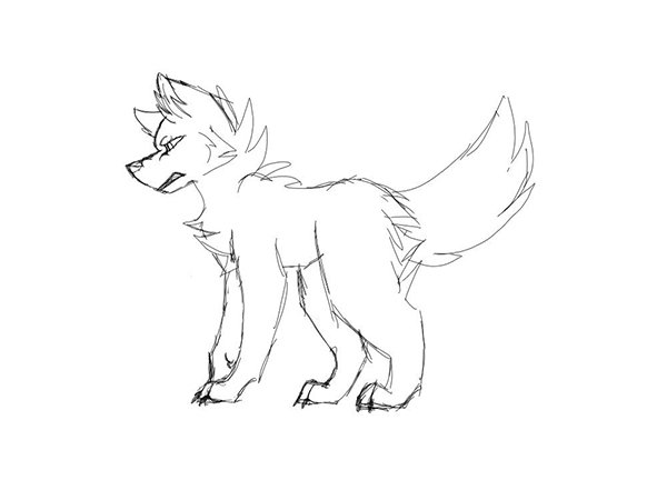 User felisvulpes shared their inspired take on a wolf and dog anatomy drawing tutorial from Monika Zagrobelna
