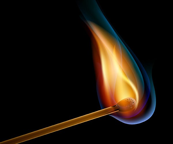 User tdme commented with their version of a burning match vector thanks to a tutorial by Iaroslav Lazunov
